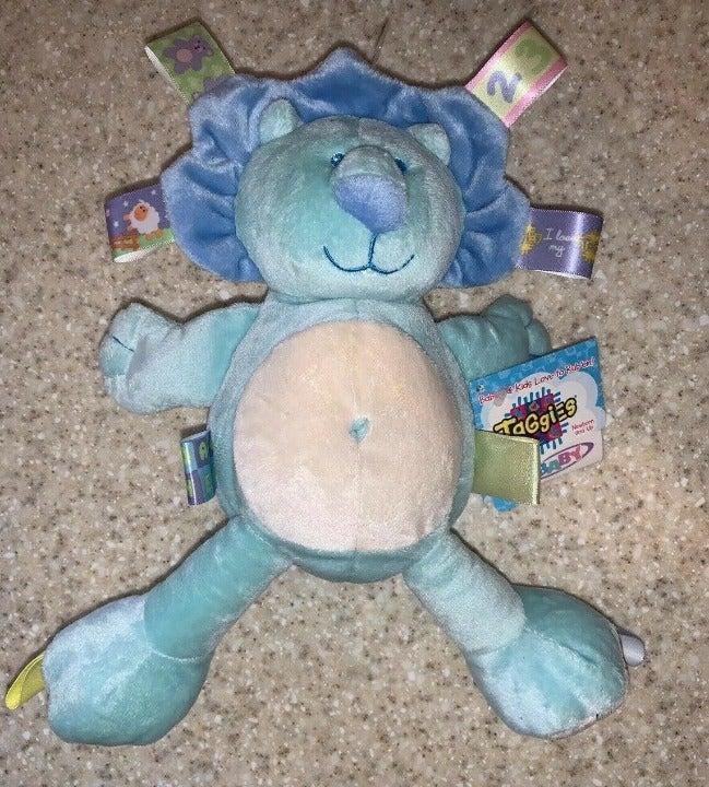 Bright Starts Taggies Blue Lion Plush