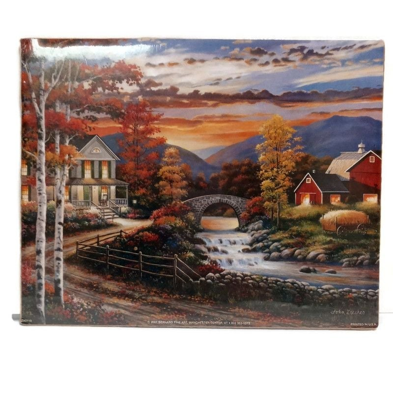 John Zacches Small Country Town Print
