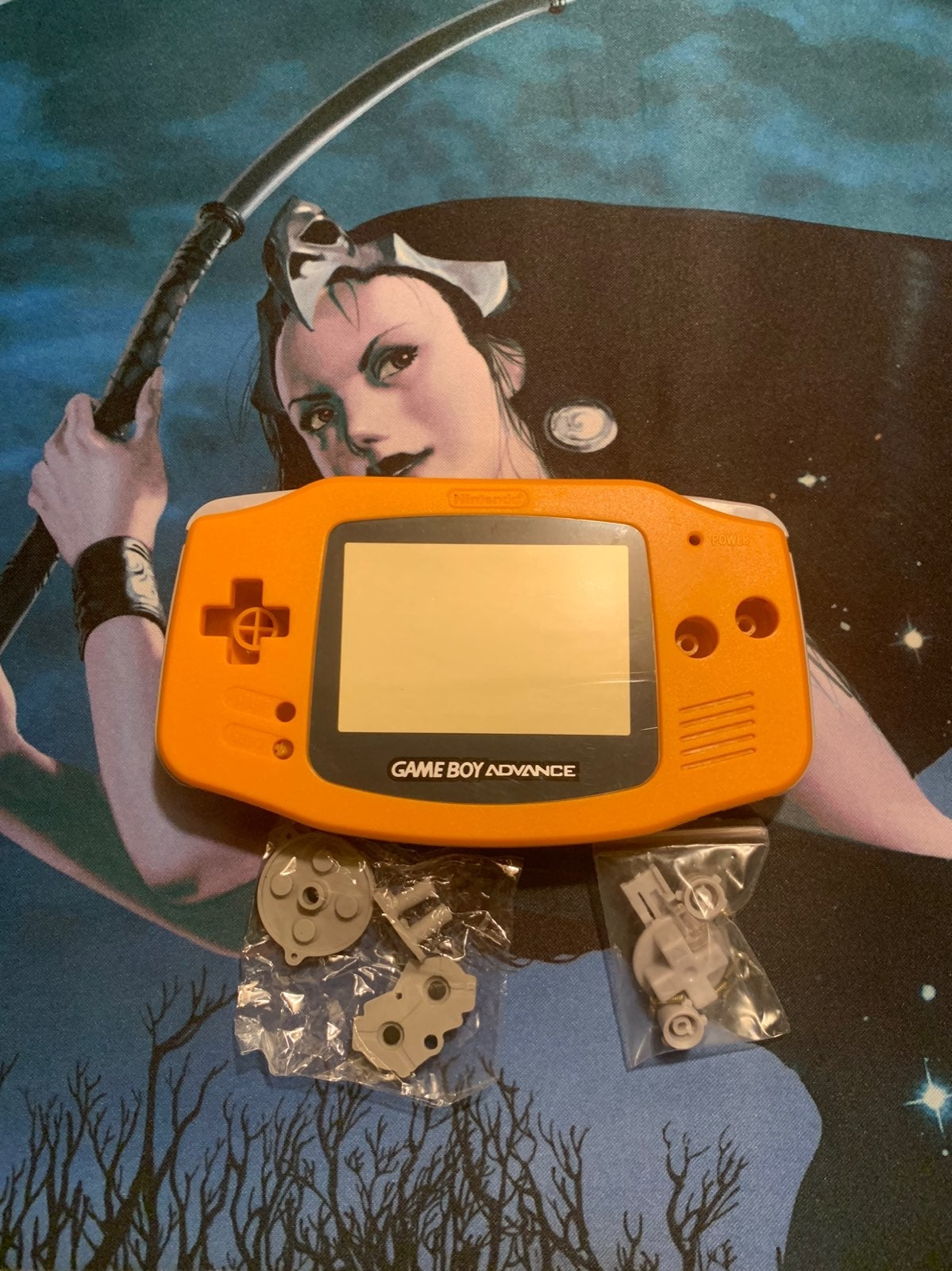 Replacement Orange Gameboy Advance Shell