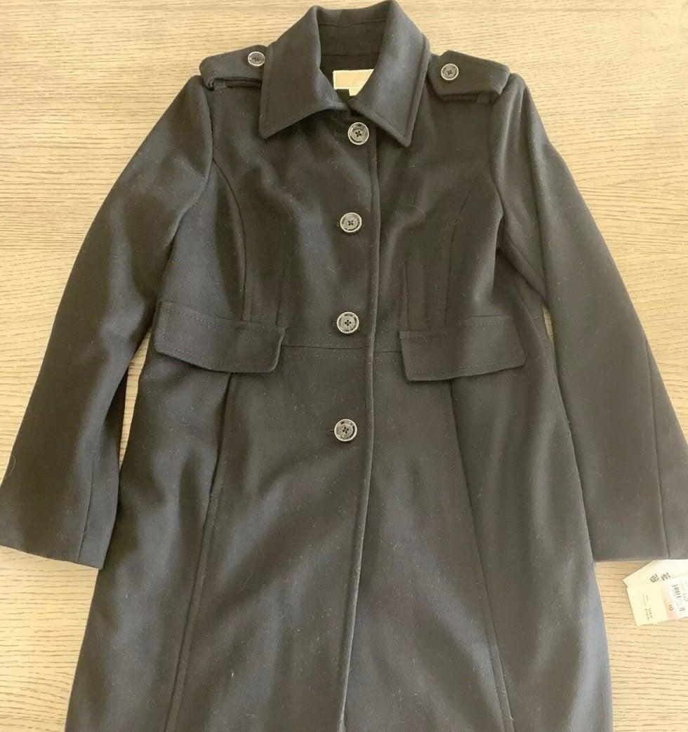 Michael Kors Women's Black Wool Coat