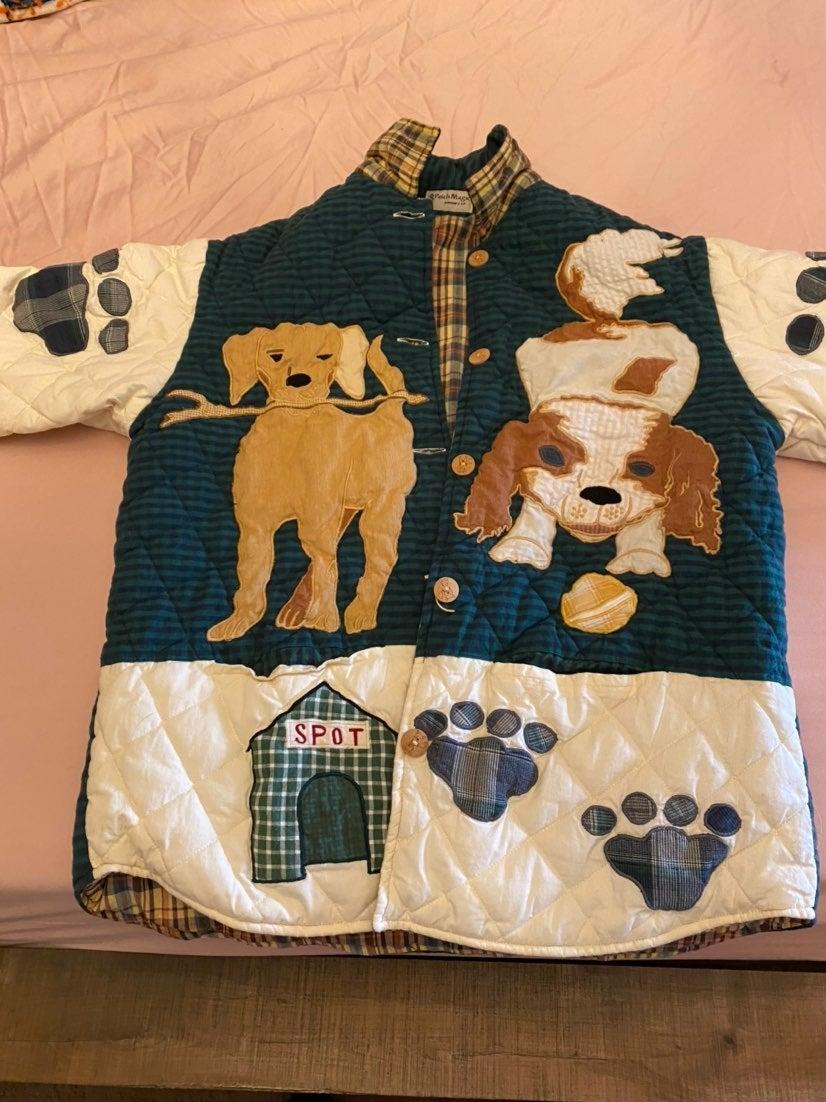Quilted reversible dog coat Medium