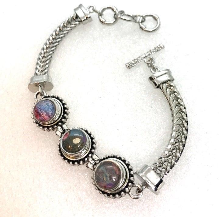 Snap bracelet 3 handmade snaps12mm  sb12