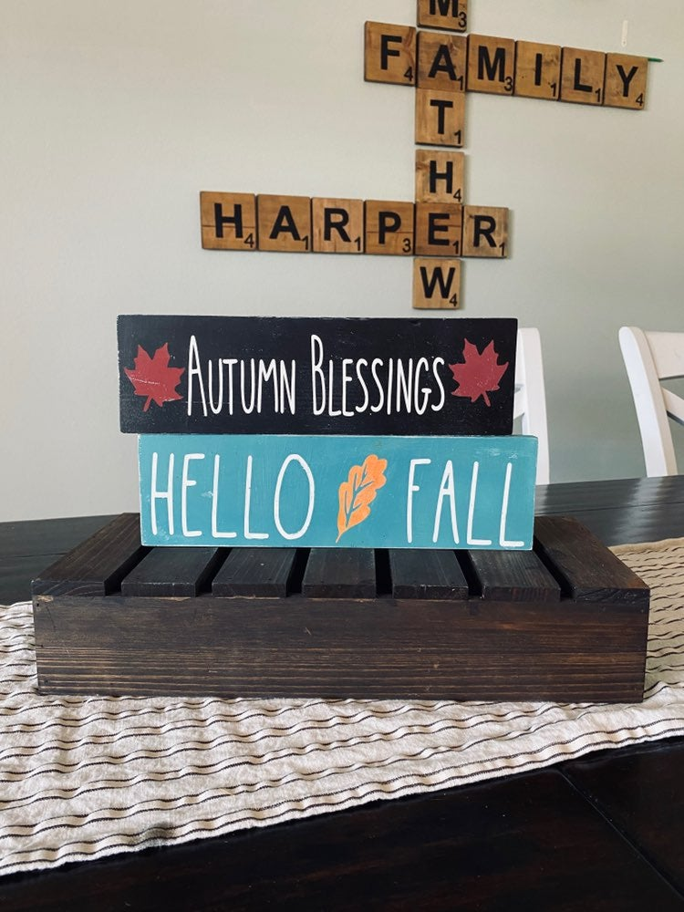 Hand Painted Rustic Farmhouse Wood Sign