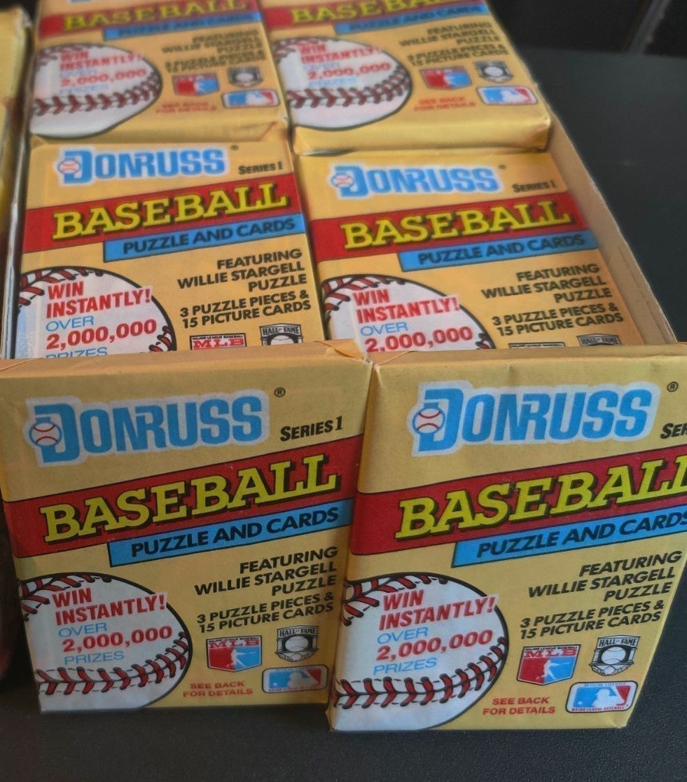 4 donruss wax packs