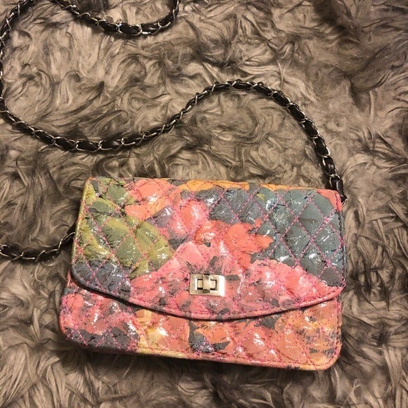 Multicolored Clutch Crossbody NWOT