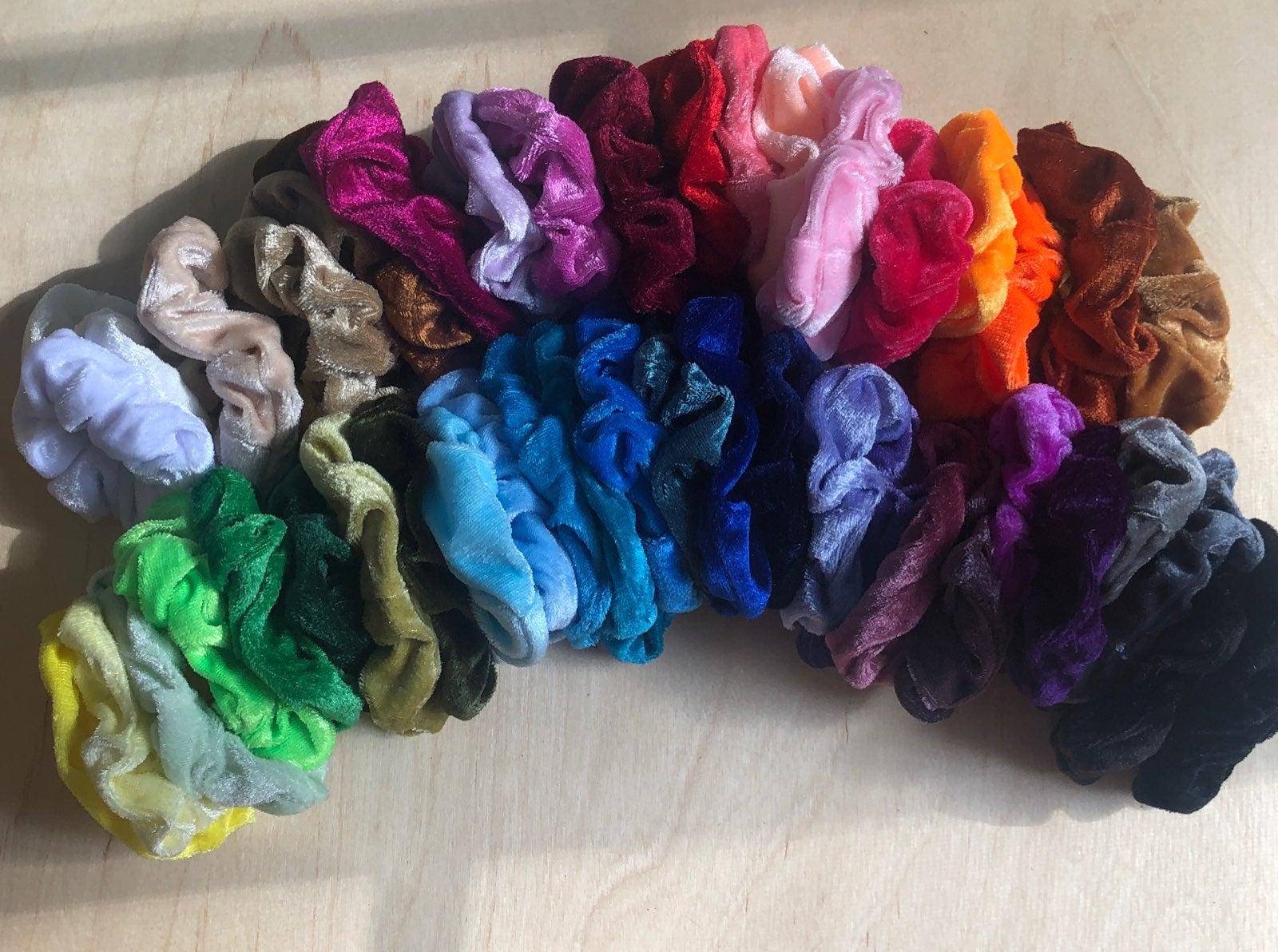 45 Velvet scrunchies! NEW!