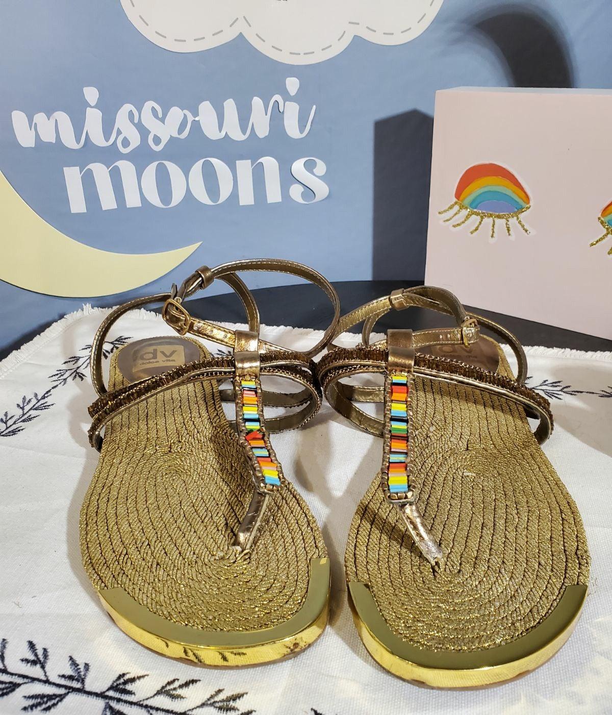 Dolce Vita Rainbow Beaded Sandals
