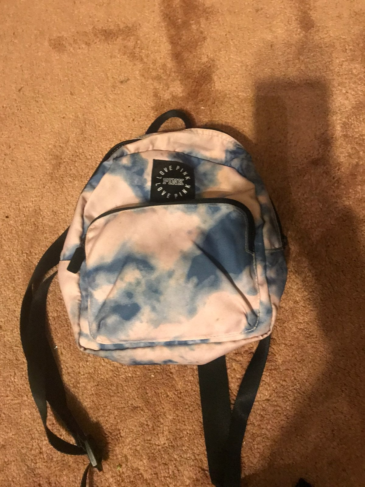 pink tie dye mini backp