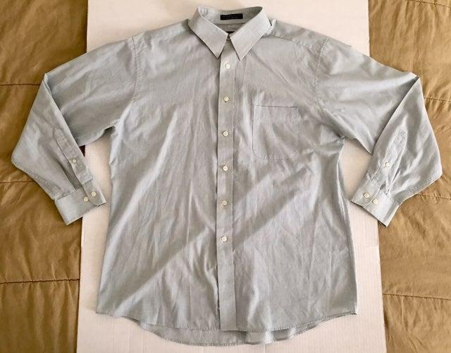 Barrington Green White Dress Shirt 16.5