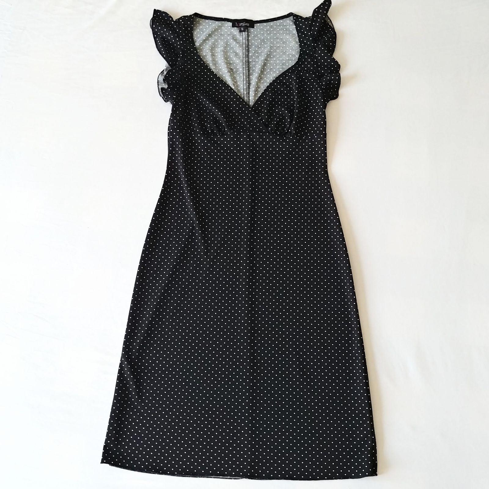 Hourglass Black Polka Dot Dress