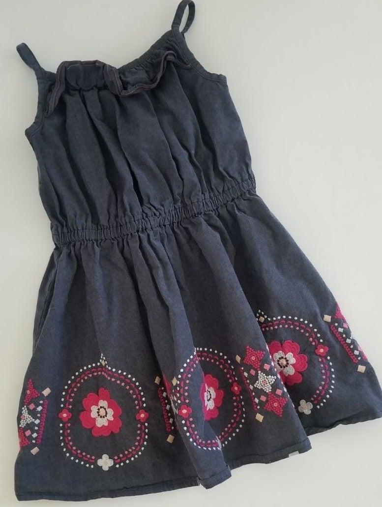 Gymboree denim blue dress size 6