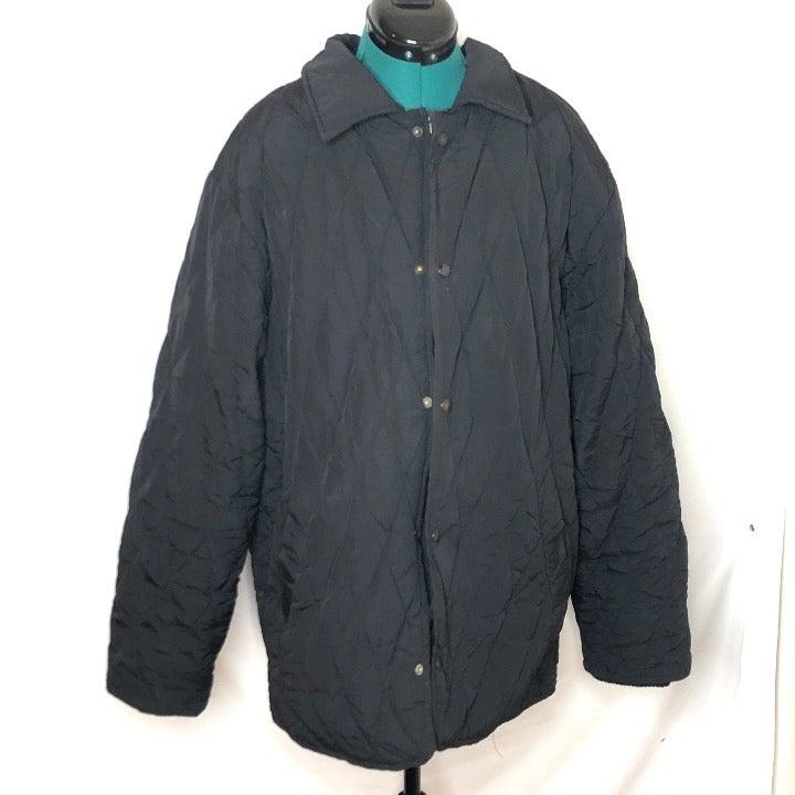 Schott NYC Mens Husky Quilted Jacket Bla