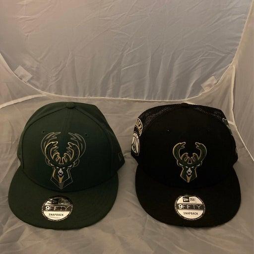 2 New Era Bucks Snapback Hats 9fifty