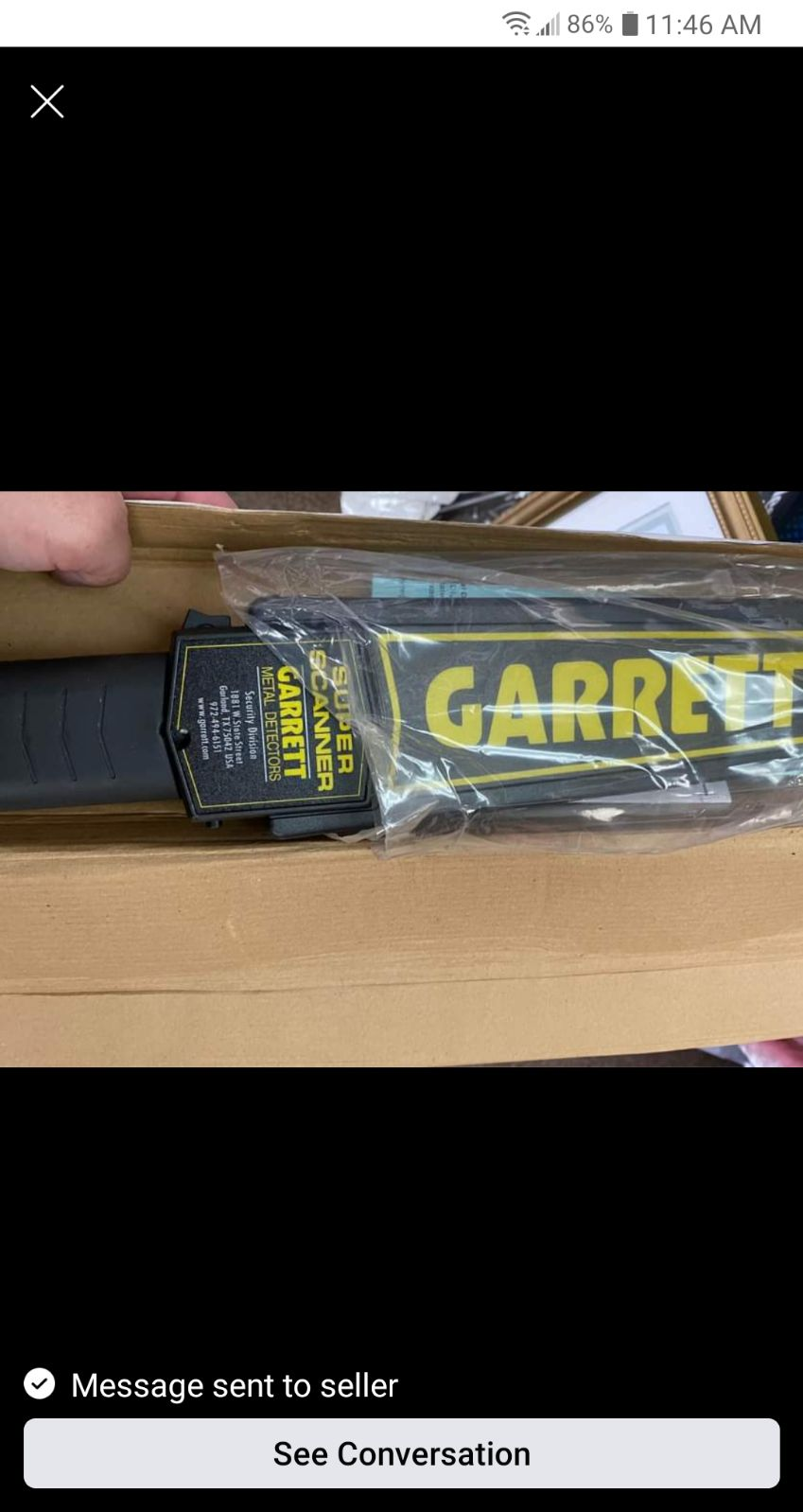 Garrett Super scanner handheld