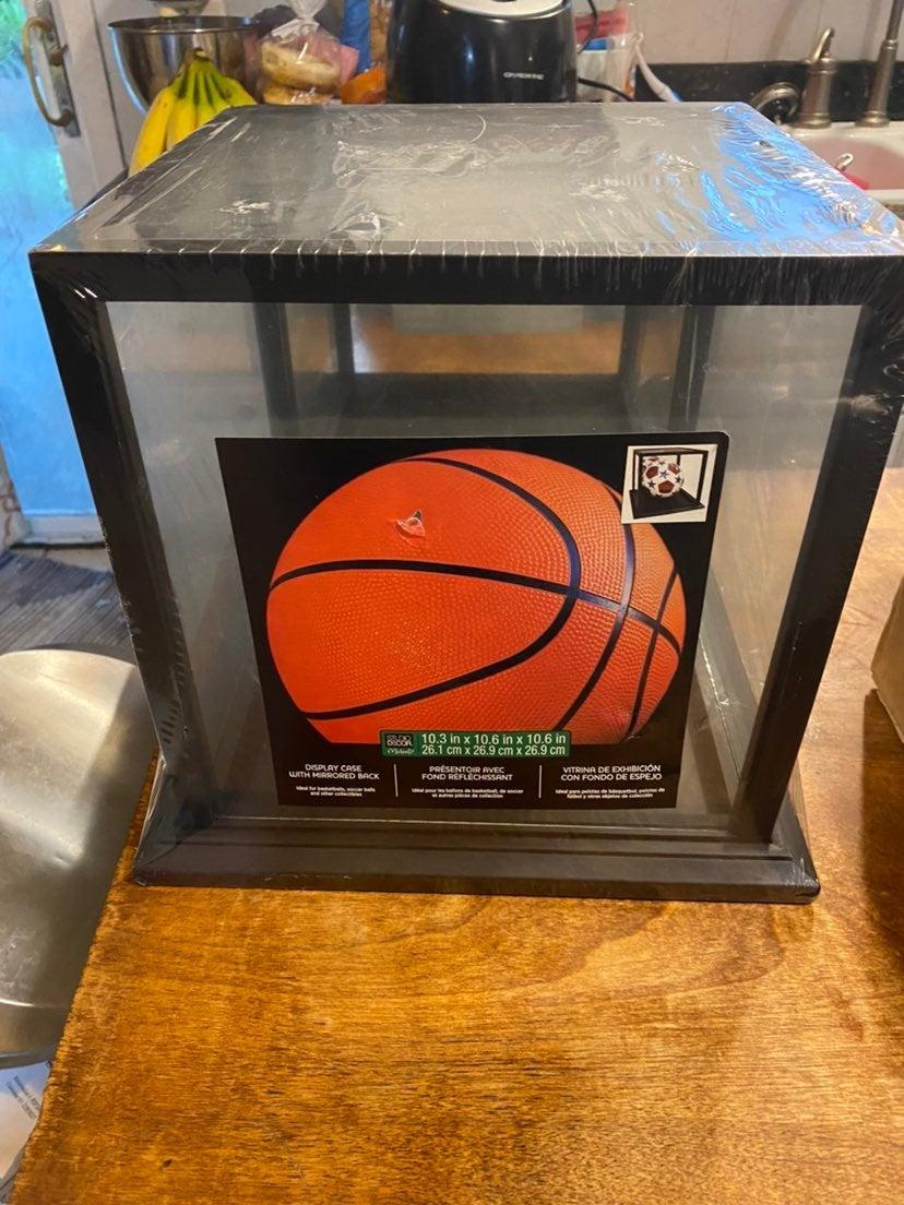 Basketball Display Case Holder w/ Mirror