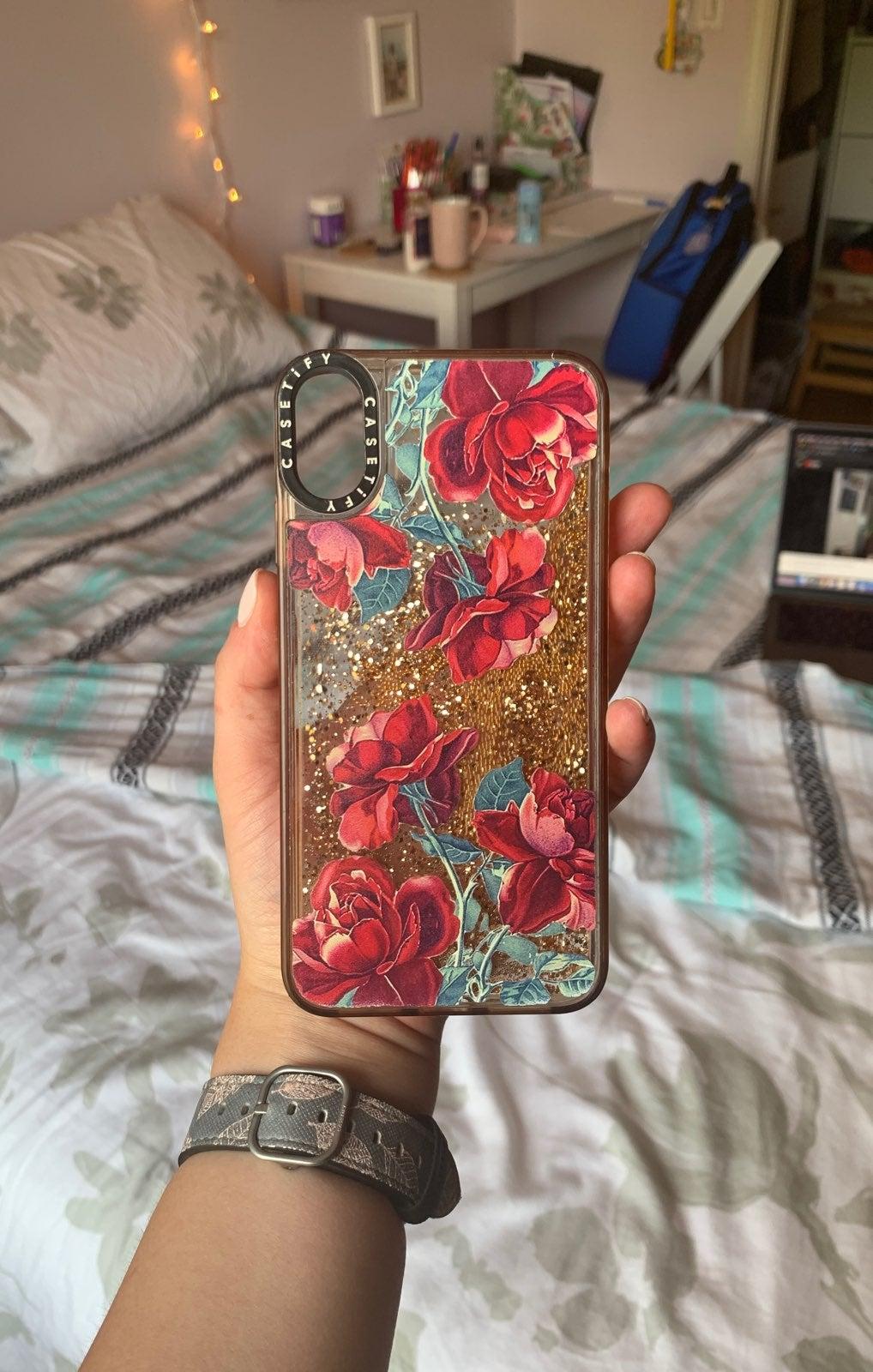 XS Max Gold Glitter Casetify Case