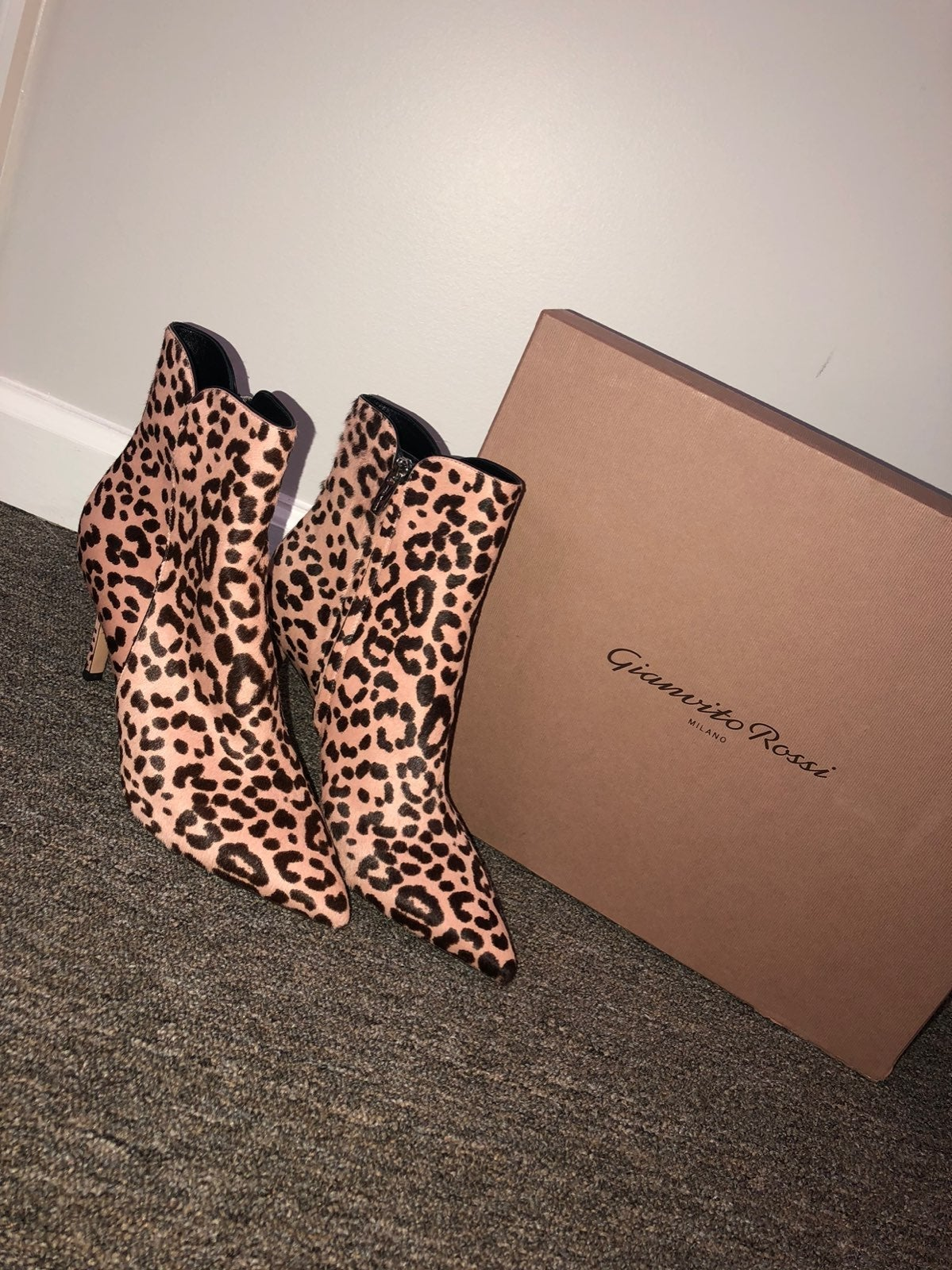 Gianvito Rossi Levy 85 Leopard Boots