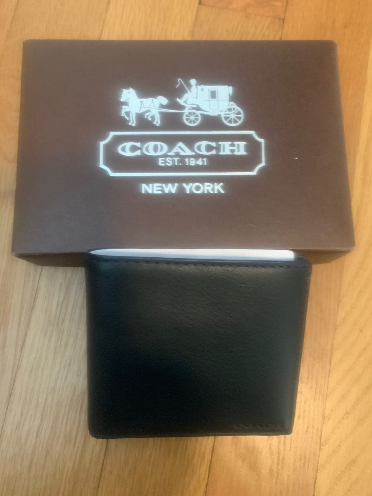 Coach wallet mens navy, great gift