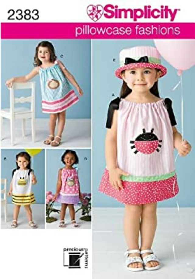Simplicity Sewing Pattern 2383 Toddlers'