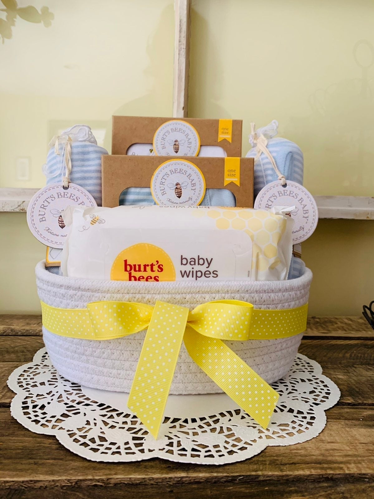 Burt's Bees Baby Boy Basket