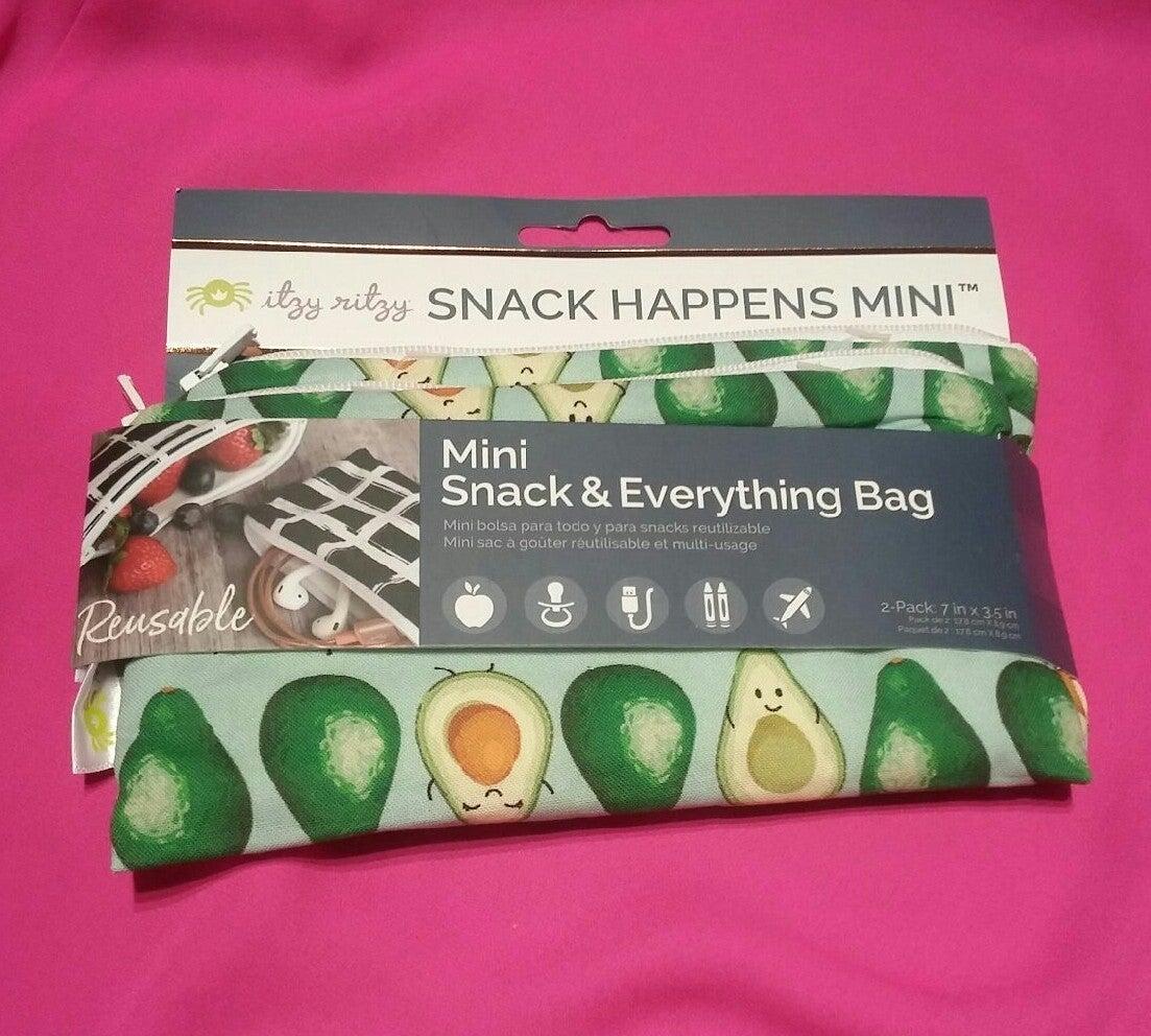 Itzy Ritzy Avocado Guac Star Mini Bags