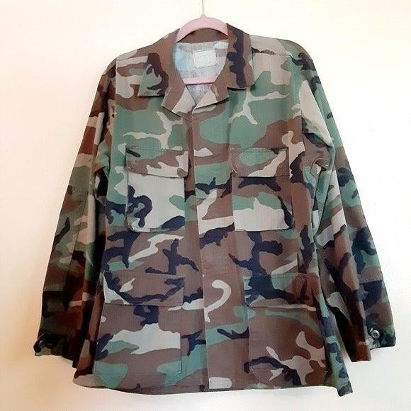 Woodland Camouflage Coat Men's Large