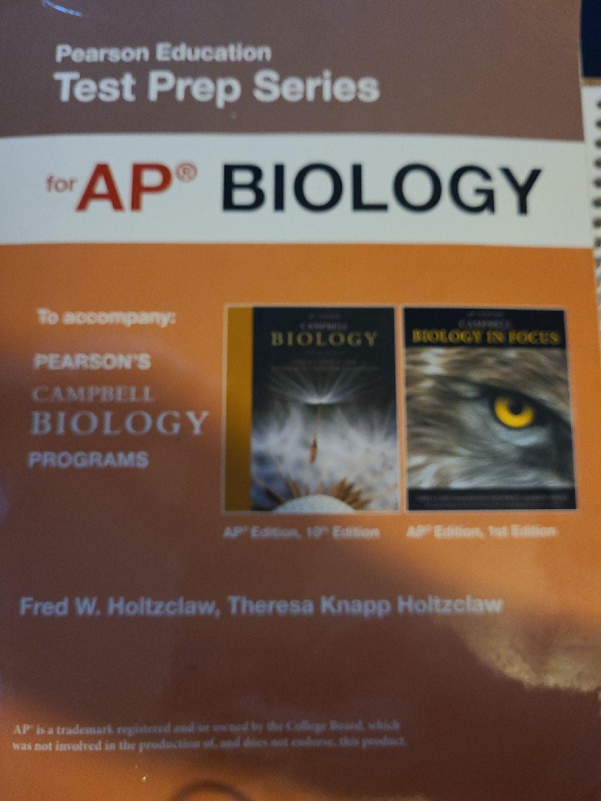 Ap biology Pearson prep edition