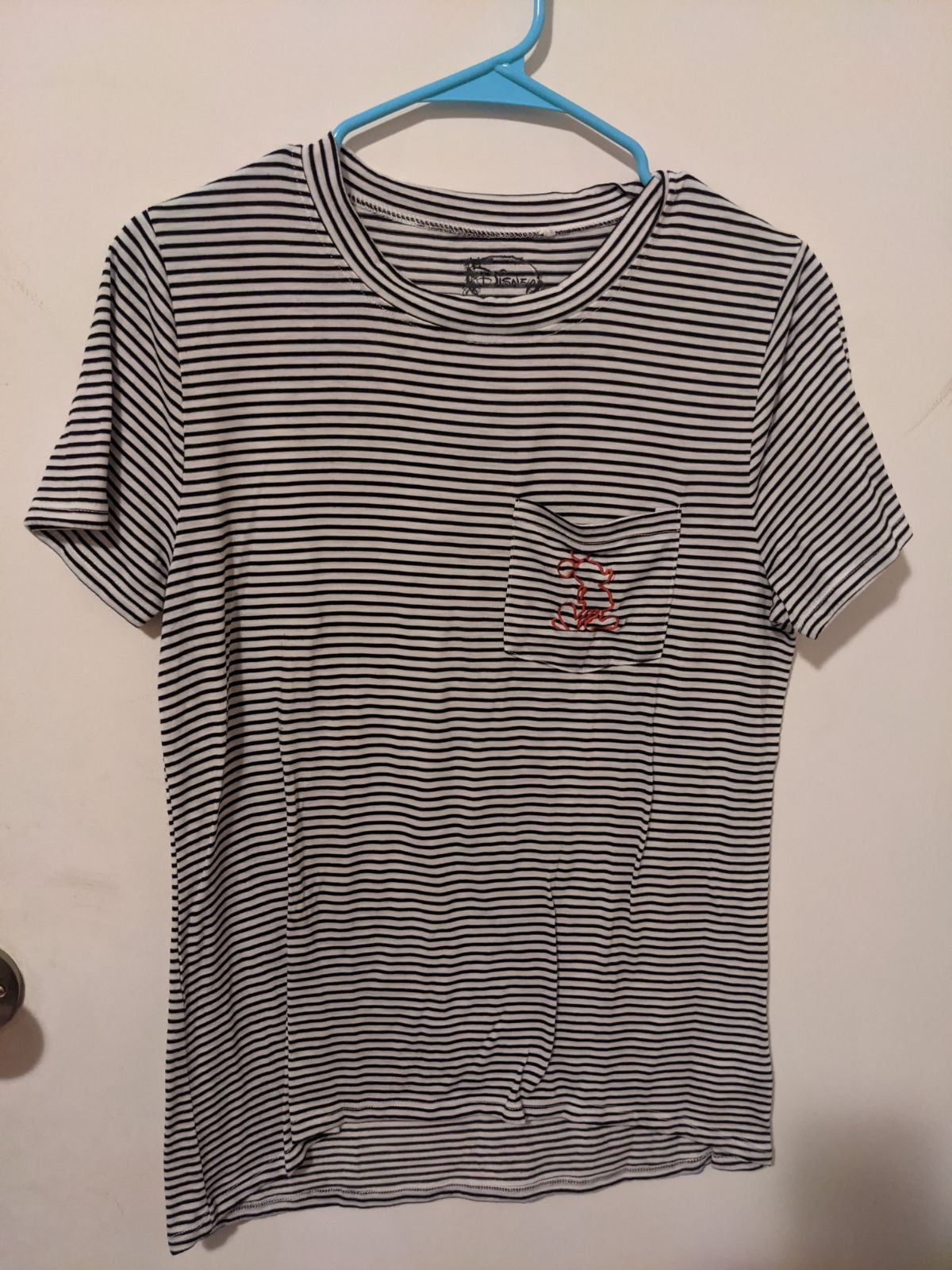 Embroidered Pocket Mickey Mouse Shirt