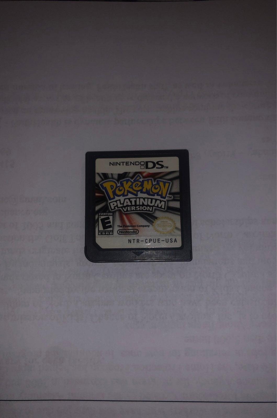 Pokemon Platinum Version for DS