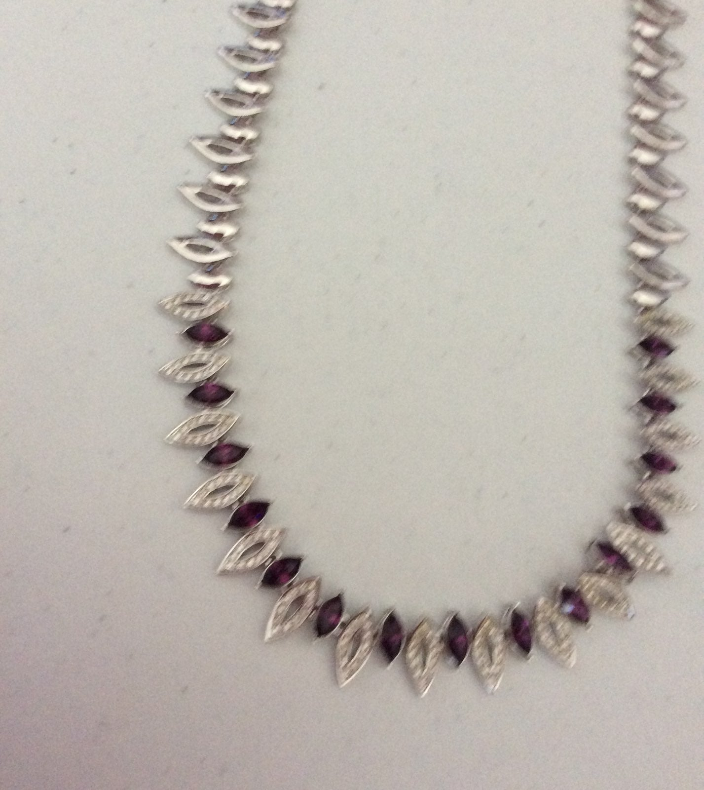 Vintage Amethyst And Crystal Necklace