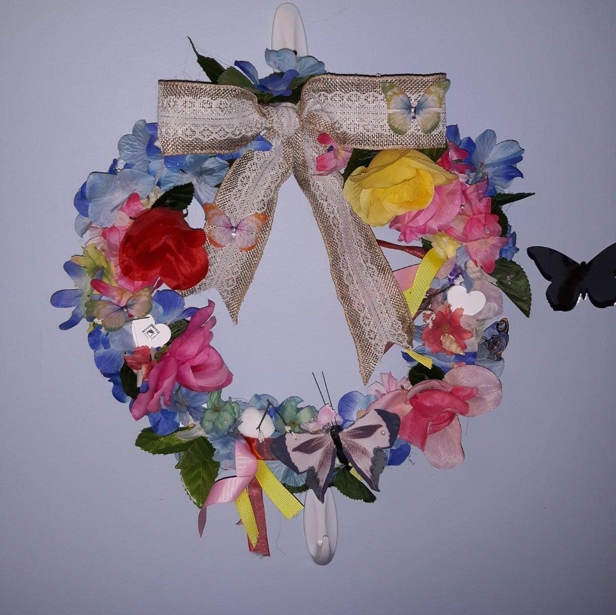 "Handmade 12"" Wreath~REDUCED!!"