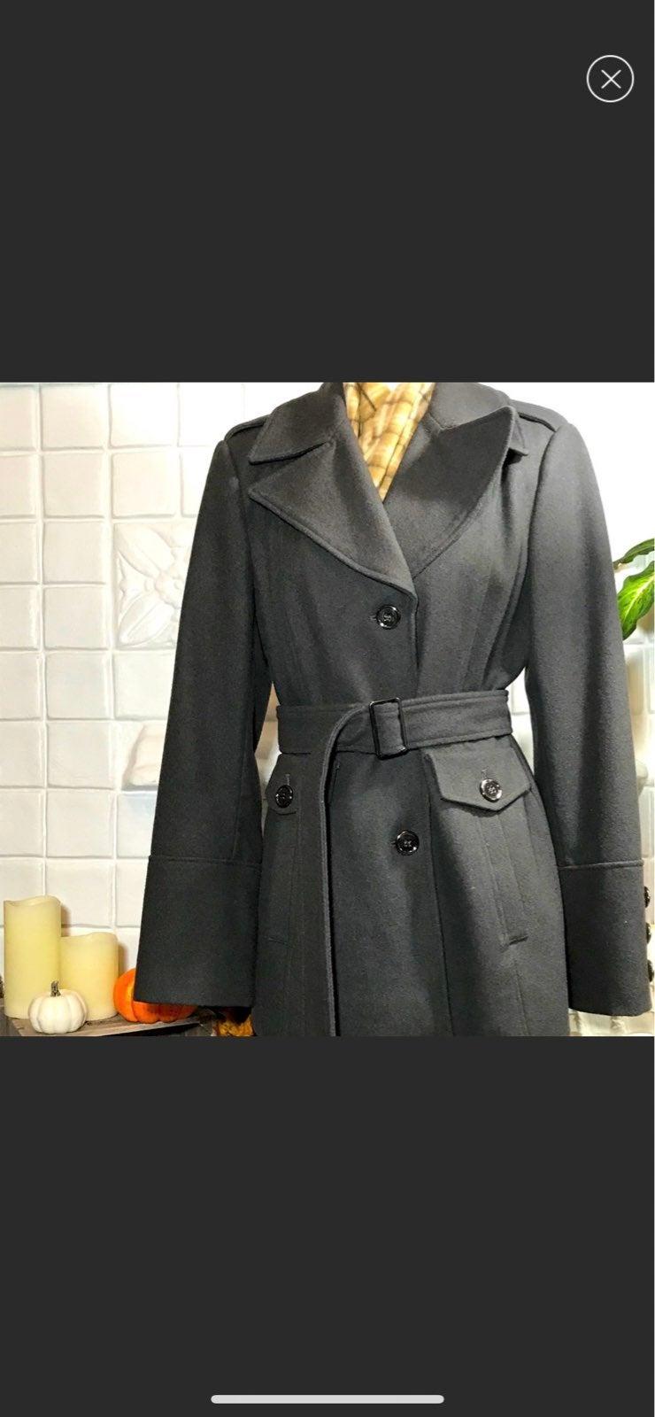 ANTONIO MELANI Charcoal Green Wool Peaco
