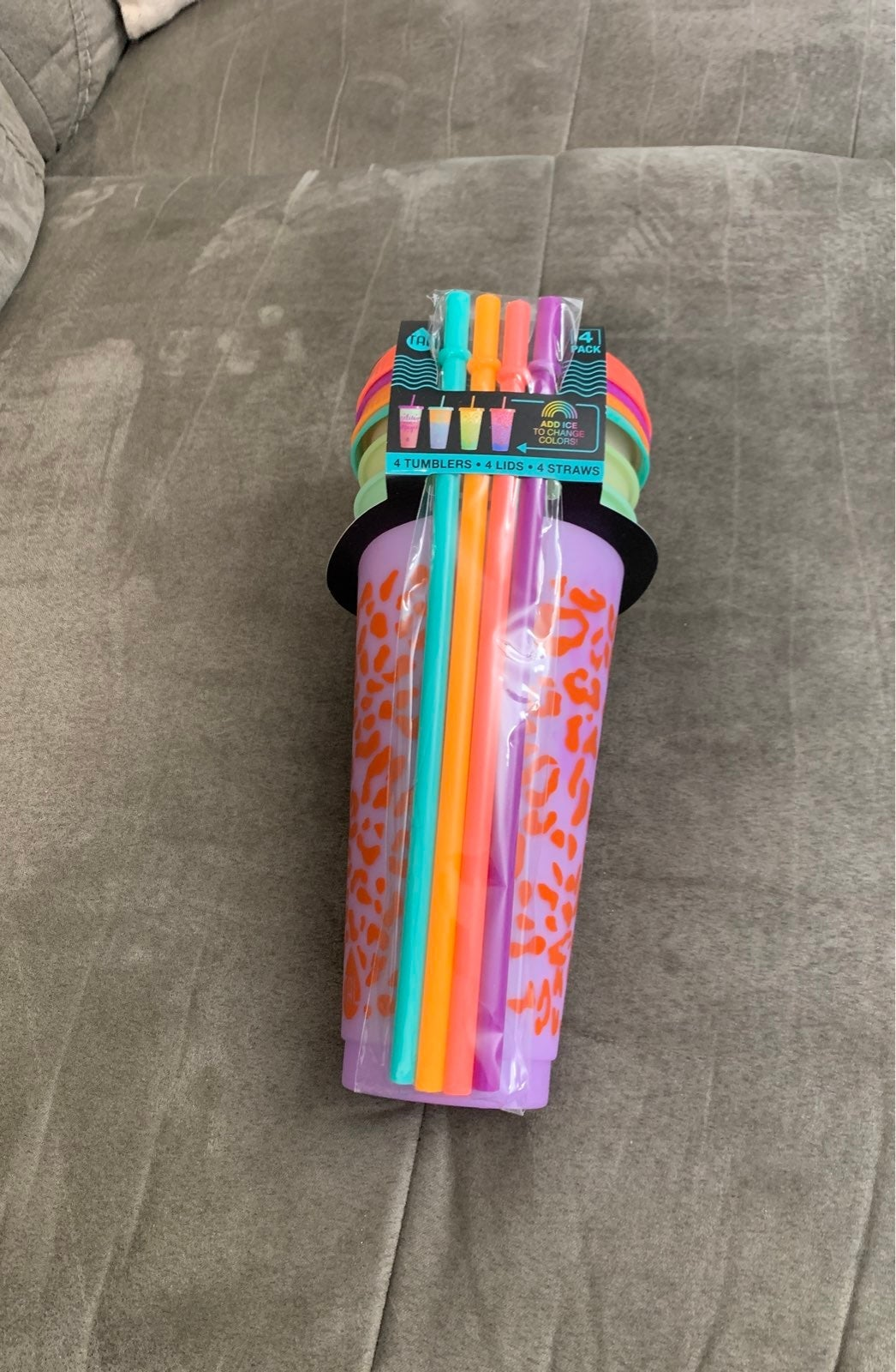 Tumbler& straw set- color changing