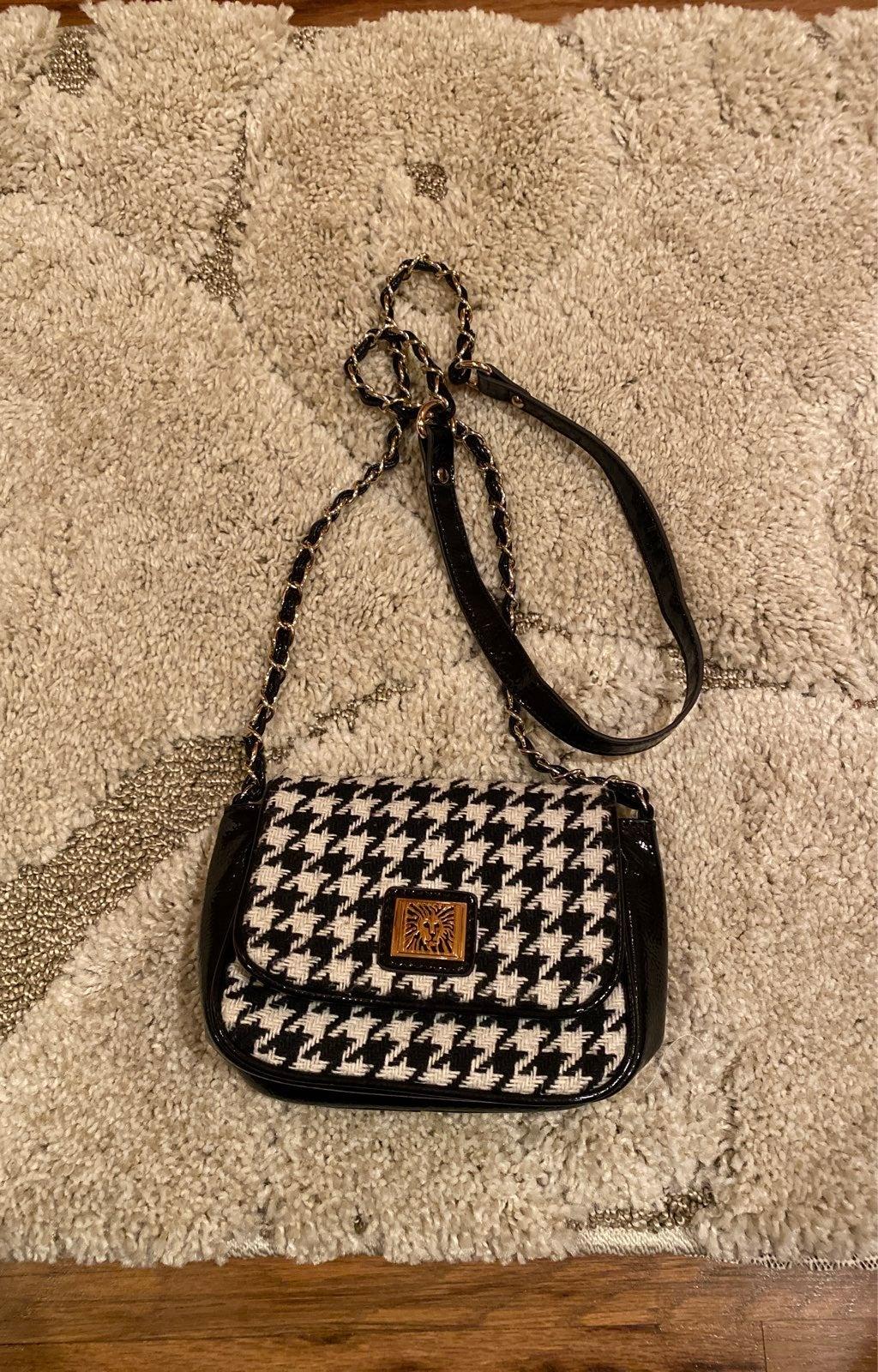 Anne Klein houndstooth purse