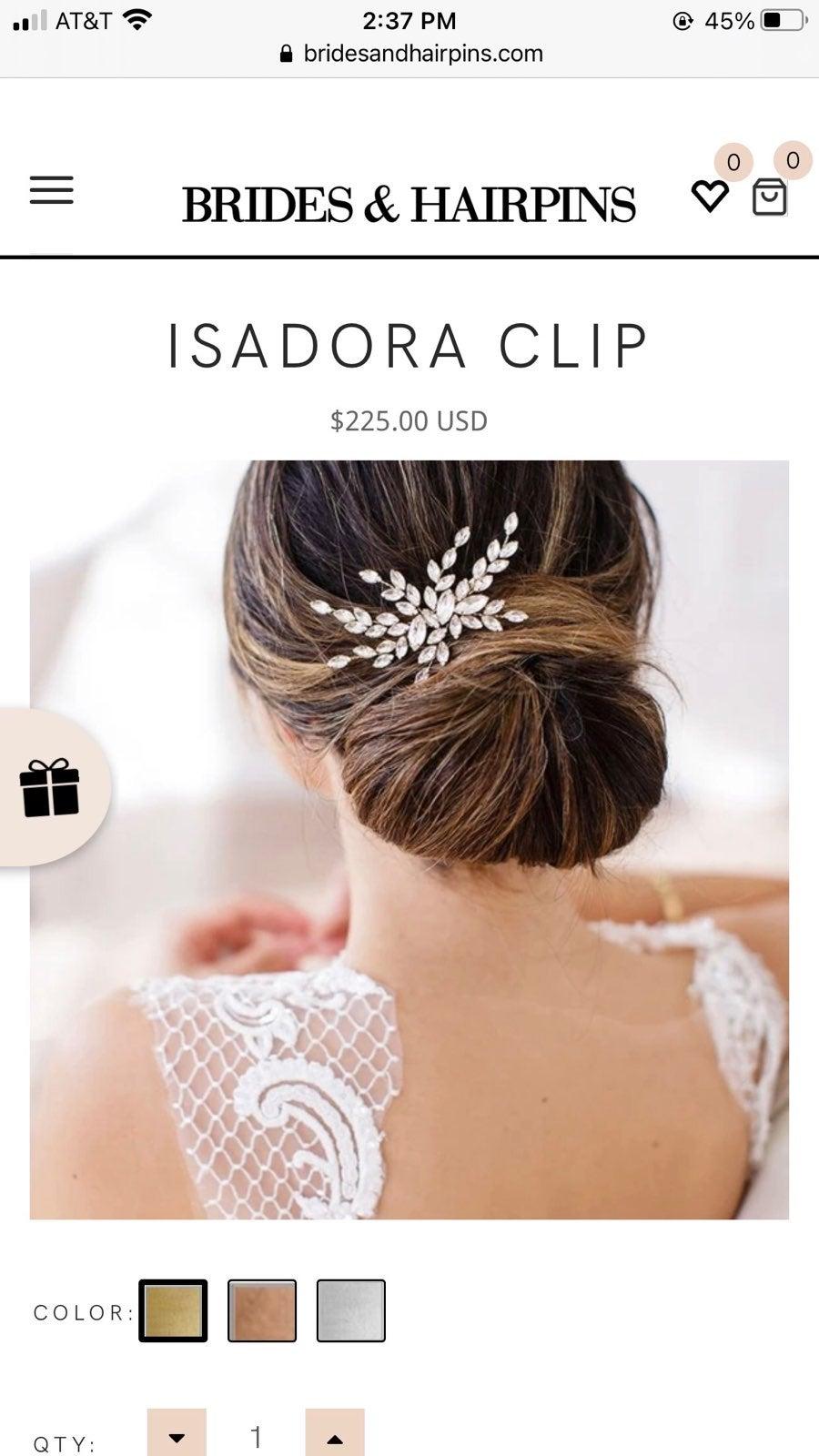 Brides & Hairpins - ISADORA Hair Clip -