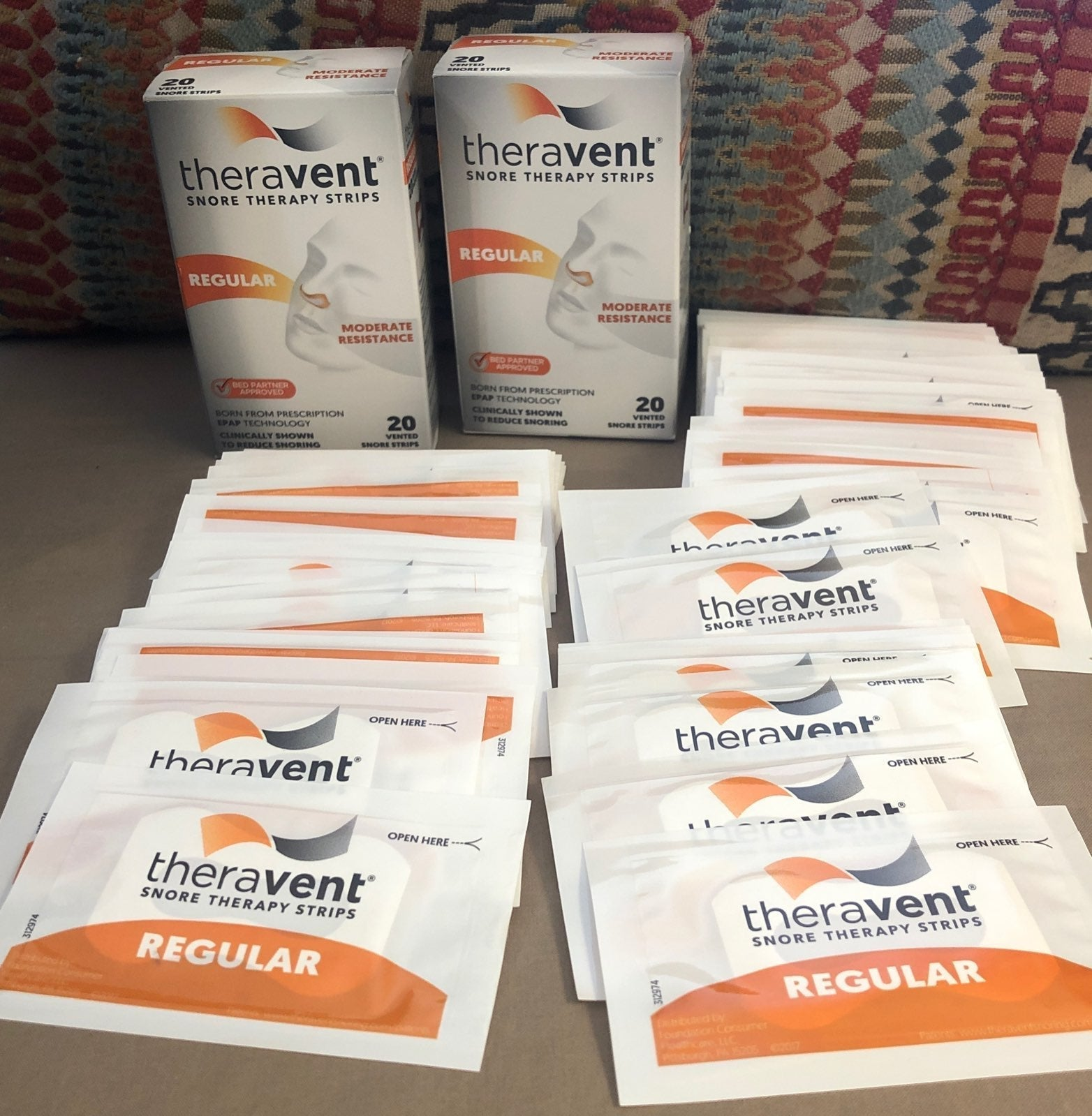 """90-THERAVENT """"REGULAR"""" SNORE STRIP"""