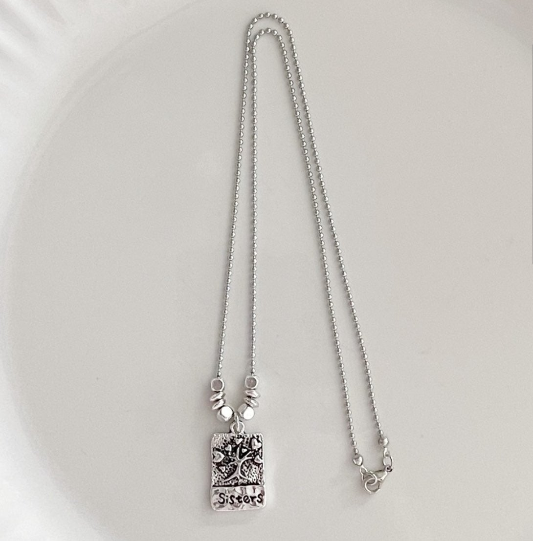 Sisters Charm Necklaces Handmade Gift