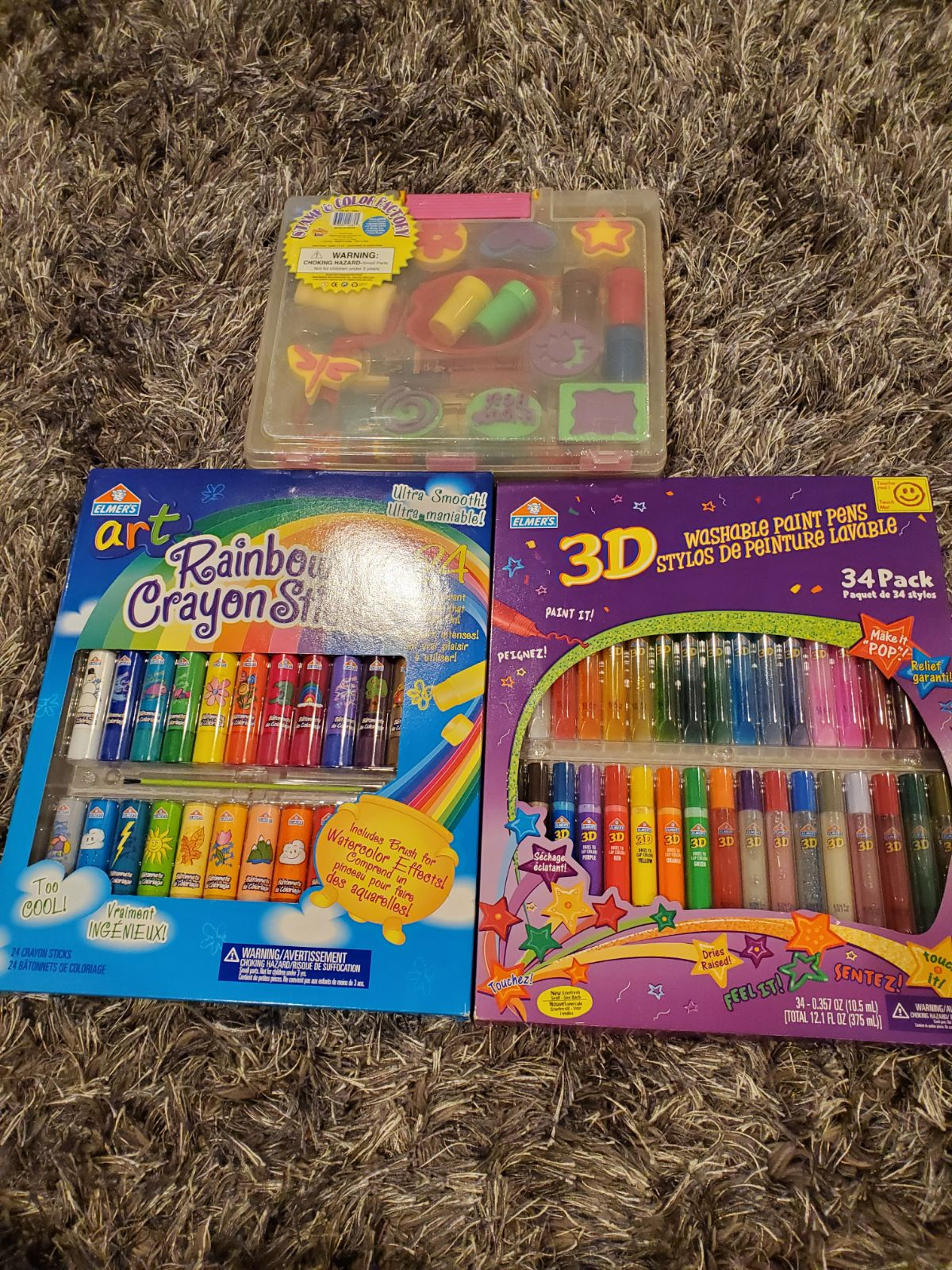 back to school crayons and paint sets