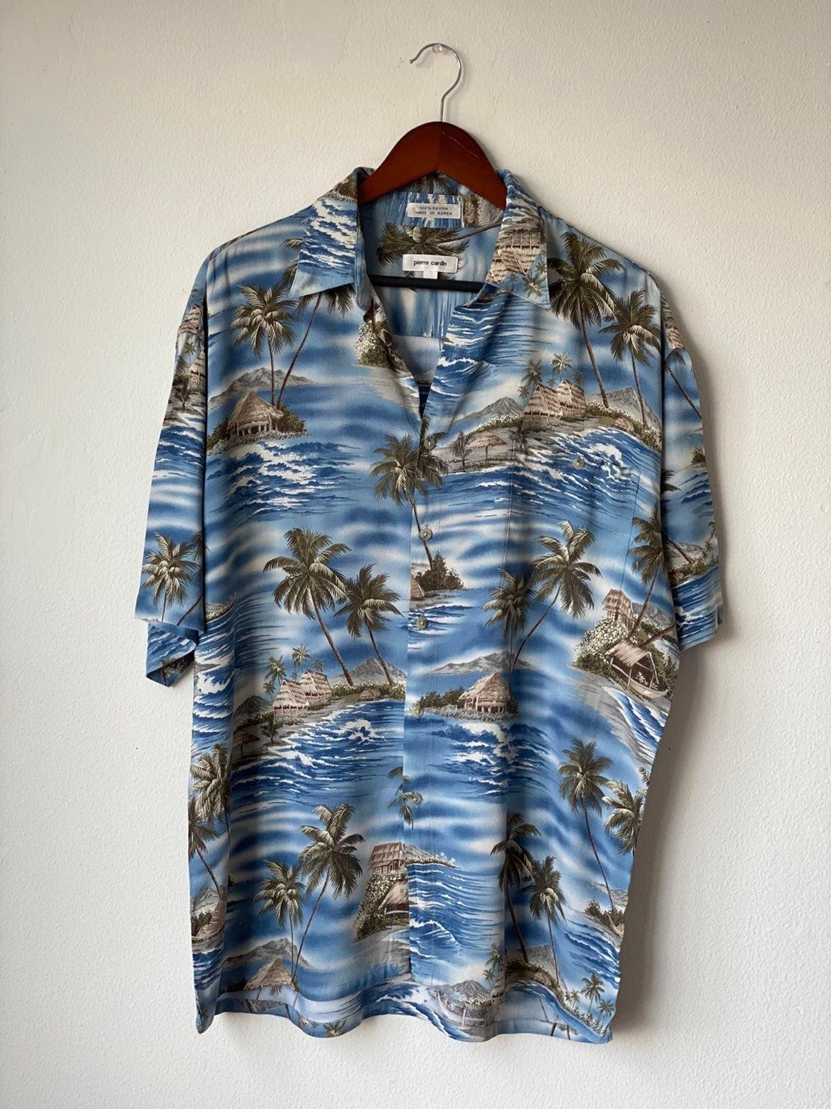 Pierre Cardin Hawaiian Shirt Sz L