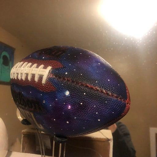 Galaxy handpainted custom baskeball foot