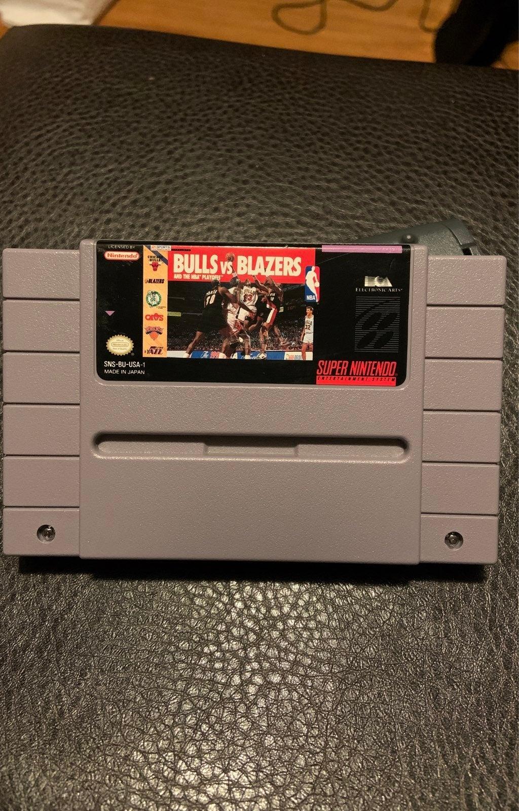 Bulls vs. Blazers SNES Super Nintendo