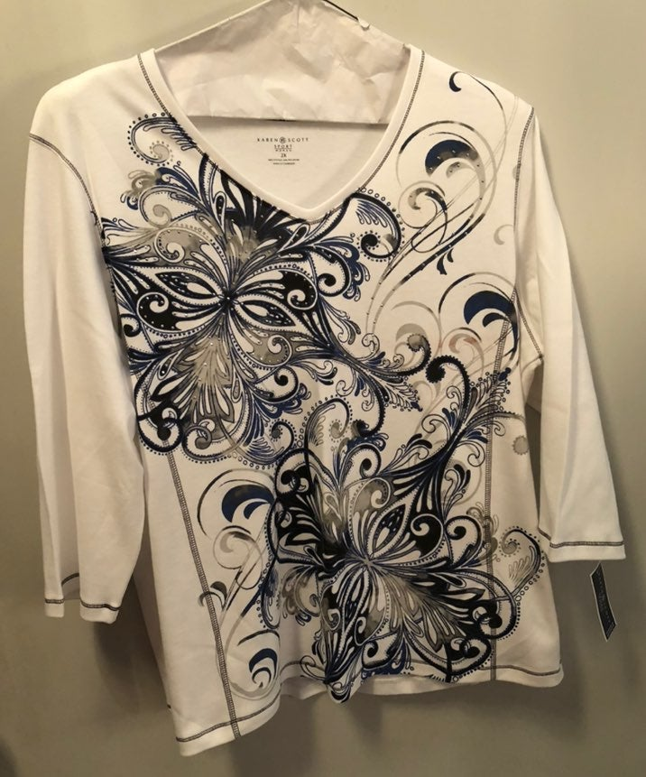 size 2x women embellished tops
