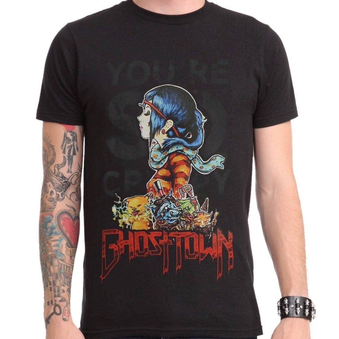 Hot Topic Ghost Town Band Merch T-Shirt