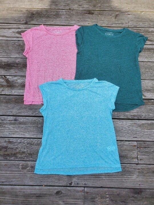 Lot of 3 Primark ATMOSPHERE The Relaxed Tee in Blue, Pink and Green sz 8/10