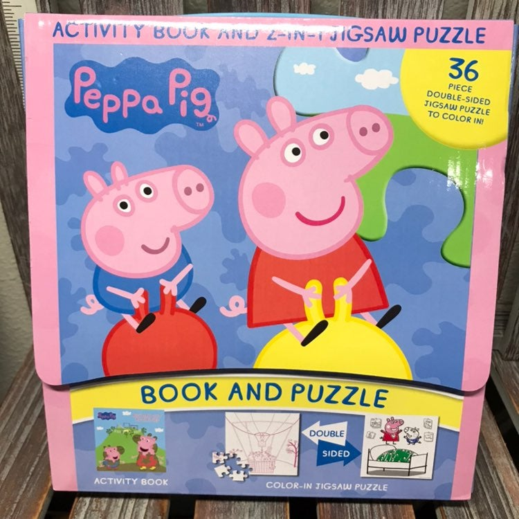 Peppa Pig Book & Puzzle Activity Book