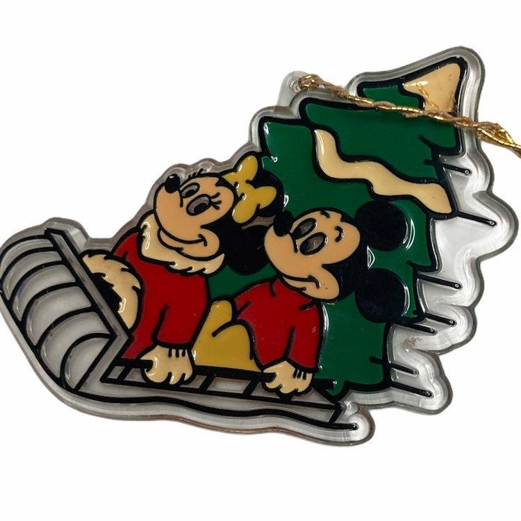 VTG Mickey and Minnie Christmas Ornament