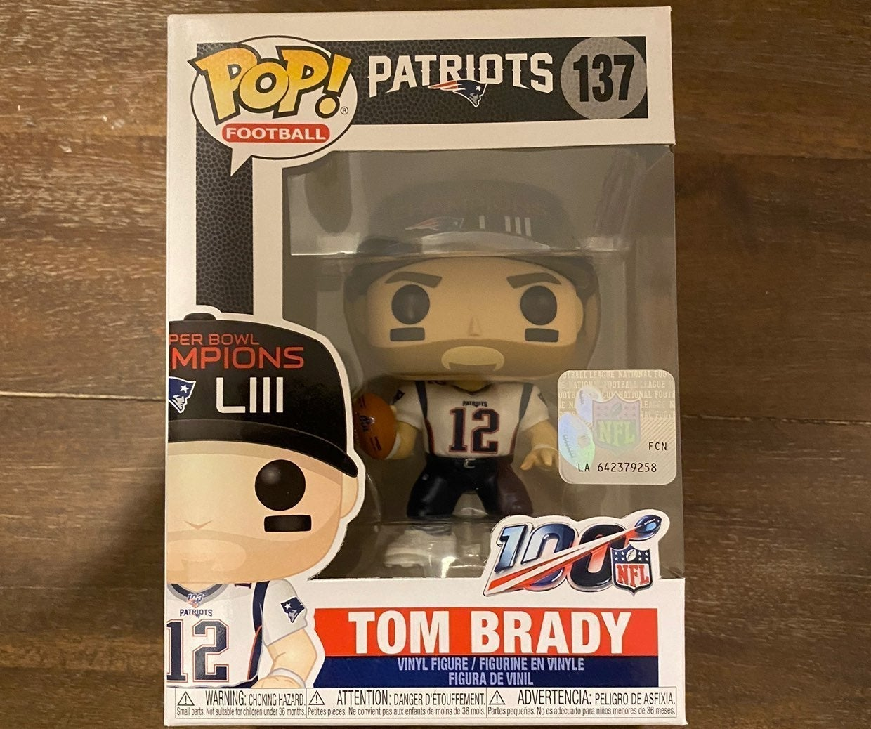Funko Pop Tom Brady Superbowl Patriots