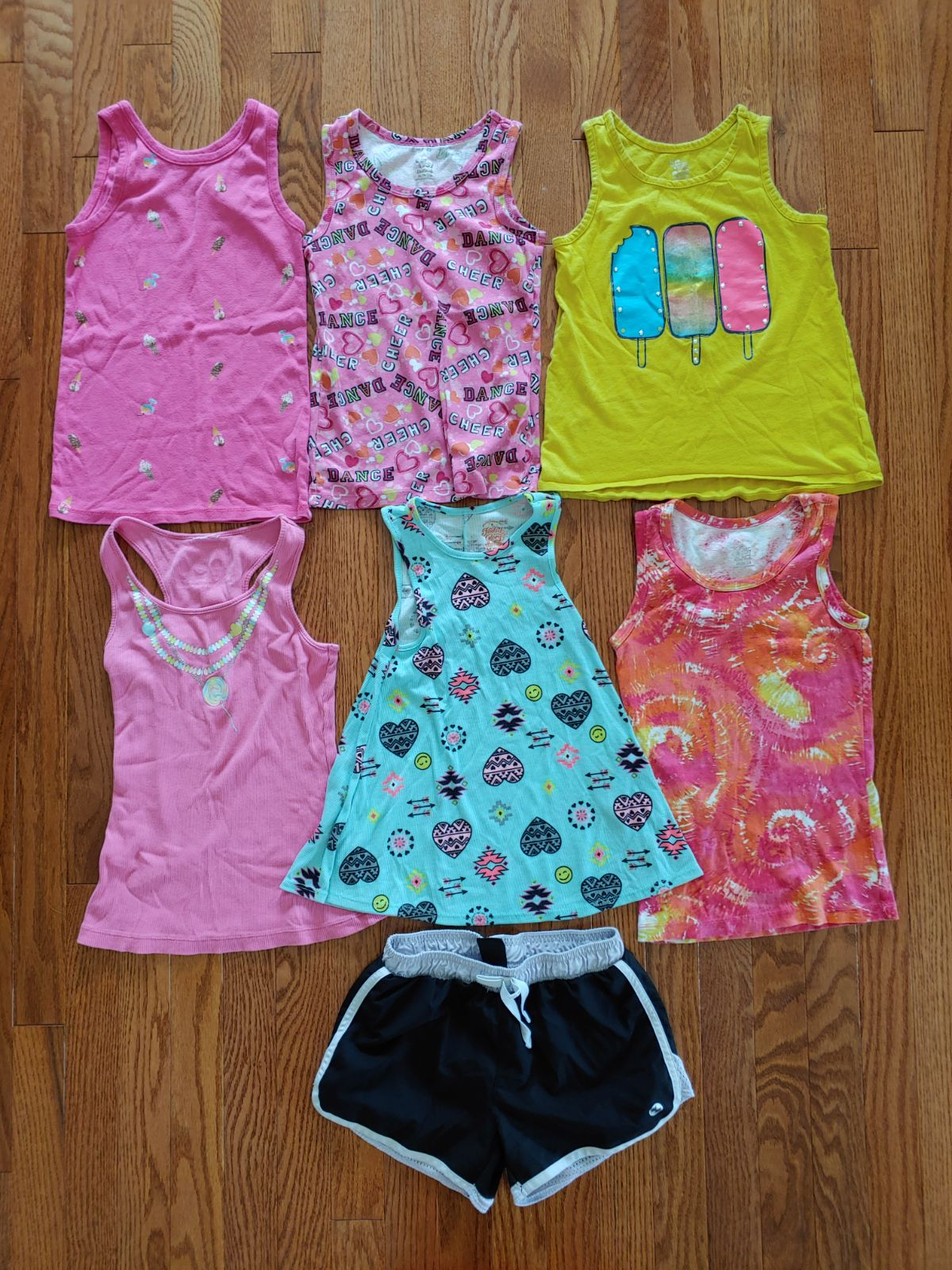 Girls summer tank top/short bundle
