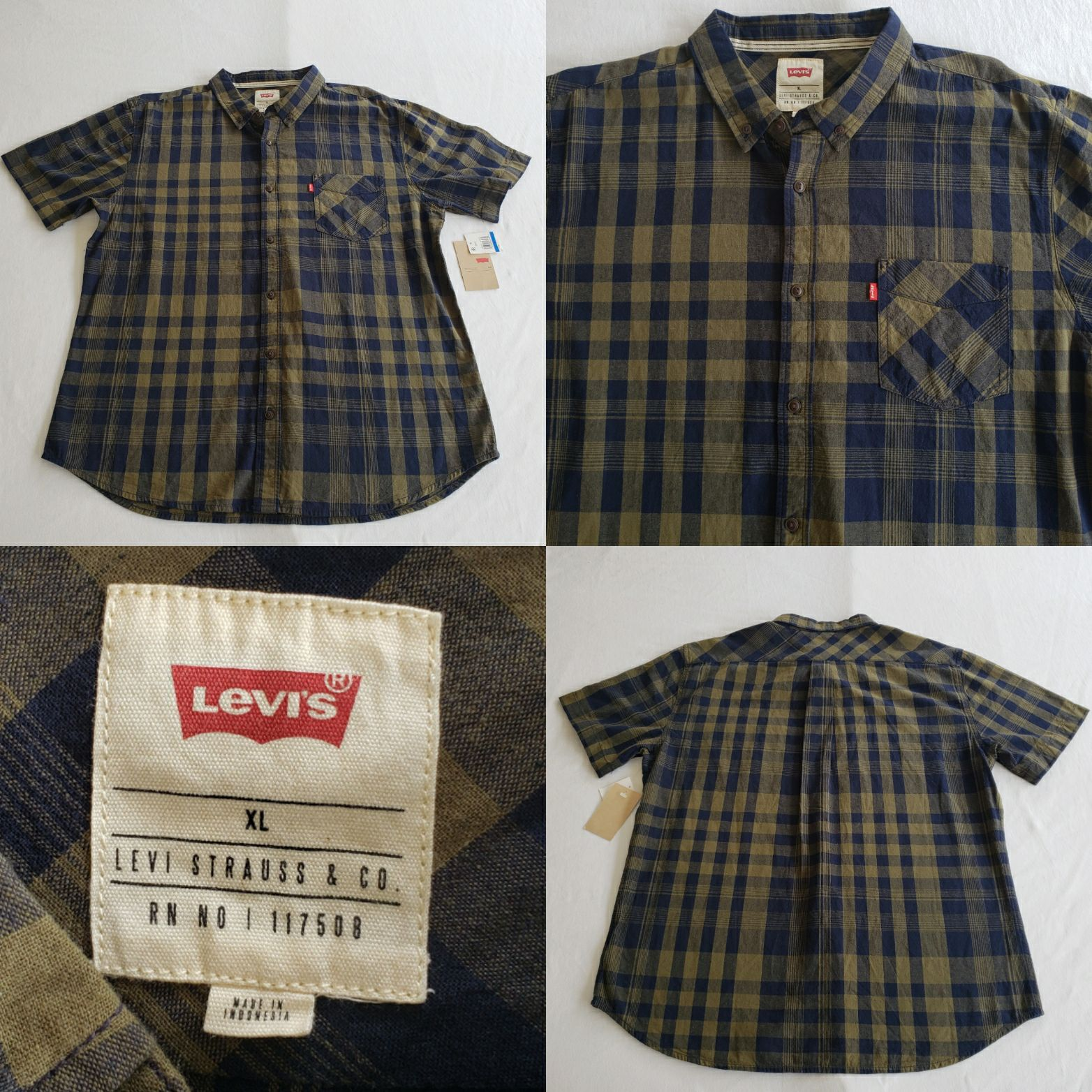Mens Levi's Strauss Ernie Button Down XL