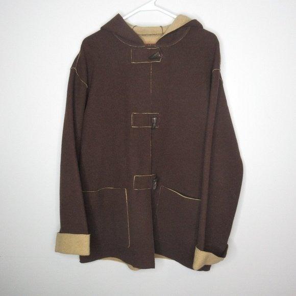 Ralph Lauren Brown Wool Toggle jacket